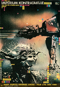 """The Empire Strikes Back (20th Century Fox, 1983). Rolled, Near Mint-. Signed Polish Poster (18.5"""" X 26.5"""") Mir..."""
