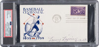 """1953 Napoleon """"Larry"""" Lajoie Signed First Day Cover, PSA/DNA Authentic"""