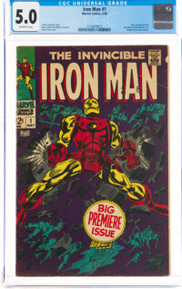 Iron Man #1 (Marvel, 1968) CGC VG/FN 5.0 Off-white pages