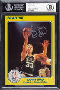 Basketball Collectibles:Others, 1985 Larry Bird Signed Star Supers Card, Beckett Authentic Autograph Grade 10. ...