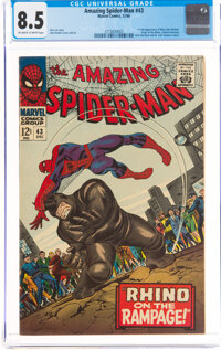 The Amazing Spider-Man #43 (Marvel, 1966) CGC VF+ 8.5 Off-white to white pages