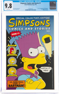 Simpsons Comics and Stories #1 (Welsh Publishing, 1993) CGC NM/MT 9.8 White pages