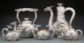 Silver & Vertu, A Five-Piece Japanese Dragon-Form Coffee and Tea Service, 20th century . Marks: Four-character mark, Kamiwaza. 12 x 6-3/... (Total: 5 )