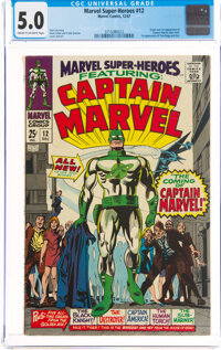 Marvel Super-Heroes #12 Captain Marvel (Marvel, 1967) CGC VG/FN 5.0 Cream to off-white pages