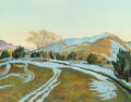 Paintings, Peter Hurd (American, 1904-1984). Winter Tracks. Acrylic on Masonite. 28 x 36 inches (71.1 x 91.4 cm). Signed lower righ...