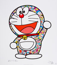 Takashi Murakami (b. 1962) Doraemon: Here We Go!, 2018 Offset lithograph in colors on smooth wove pa