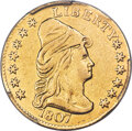 Early Quarter Eagles, 1807 $2 1/2 BD-1, R.3 -- Repaired -- PCGS Genuine. XF Details....