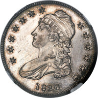 1836 50C Lettered Edge PR63 NGC. O-101, R.1, likely Low R.7 as a proof. ...(PCGS# 6221)