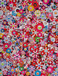 Prints & Multiples, Takashi Murakami (b. 1962). Circus: Embrace Peace and Darkness within Thy Heart, 2013. Offset lithograph in colors on sm...