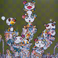 Prints & Multiples, Takashi Murakami (b. 1962). Panda Cubs Pandas, 2019. Offset lithograph in colors on smooth wove paper. 19-3/4 x 19-1/4 i...