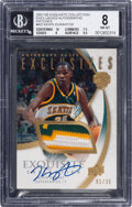 Basketball Cards:Singles (1980-Now), 2007 Exquisite Colletion Exclusives Kevin Durant (Autograph Patches) #EAP-KD BGS NM-MT 8, Auto 10 - #'d 1/35....