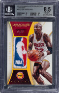 Basketball Cards:Singles (1980-Now), 2013-14 Immaculate Collection Clyde Drexler #8 (Logoman) BGS NM-MT+ 8.5 - #'d 1/1....