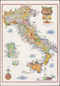 """Movie Posters:Miscellaneous, Wines of Italy (Italian National Institute of Foreign Trade, 1976). Rolled, Very Fine+. Italian Travel Poster (27.5"""" X 39.5""""..."""