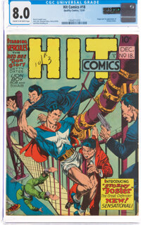 Hit Comics #18 (Quality, 1941) CGC VF 8.0 Cream to off-white pages