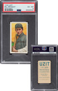 """Baseball Cards:Singles (Pre-1930), 1909-11 T206 Uzit Bill Bradley (With Bat) PSA EX-MT 6 - Only Two """"Uzit"""" Backs on the Census. ..."""
