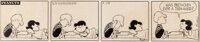 Charles Schulz Peanuts Daily Comic Strip Original Art dated 2-28-58 (United Feature Syndicate, 1958)
