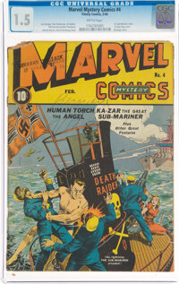 Marvel Mystery Comics #4 (Timely, 1940) CGC FR/GD 1.5 Brittle pages