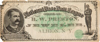 1887 Chicago White Stockings Baseball Currency
