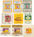 Baseball Cards:Lots, 1933-1941 Delong, National Chicle, & Double Play Wrappers Collection (14). ...