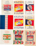 Baseball Cards:Lots, 1933-1937 World Wide Gum & O-Pee-Chee Baseball/Hockey Wrappers Collection (9). ...