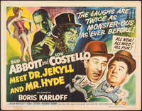 Abbott and Costello Meet Dr. Jekyll and Mr. Hyde (Universal International, 1953). Folded, Fine/Very Fine. Half Sheet (22...