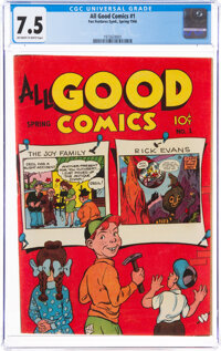 All Good Comics #1 (Fox, 1946) CGC VF- 7.5 Off-white to white pages