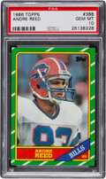 Football Cards:Singles (1970-Now), 1986 Topps Andre Reed #388 PSA Gem Mint 10....