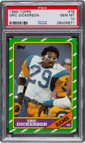 Football Cards:Singles (1970-Now), 1986 Topps Eric Dickerson #78 PSA Gem Mint 10....