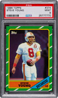 Football Cards:Singles (1970-Now), 1986 Topps Steve Young #374 PSA Mint 9....