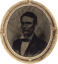 Abraham Lincoln: Oval Ferrotype Badge
