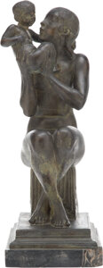 Sculpture, Paul Manship (American, 1885-1966). Little Brother, conceived 1912, cast circa 1914-17. Bronze with brown patina. 13 inc...