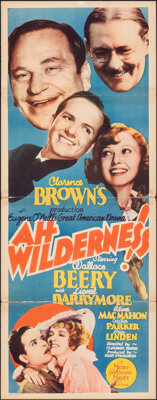 """Ah, Wilderness! & Other Lot (MGM, 1935). Folded, Overall Grade: Fine/Very Fine. Inserts (2) (14"""" X 36""""). C..."""