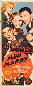 """Movie Posters:Drama, The Women Men Marry & Other Lot (Headline Pictures, 1931). Folded, Fine. Inserts (2) (14"""" X 36""""). Drama.. ... (Total: 2 Items)"""
