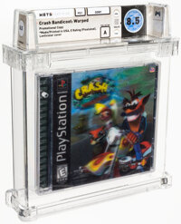 Crash Bandicoot: Warped - Wata 8.5 A Sealed [Drill Hole Promotional Copy, First Production], PS1 Sony 1998 USA