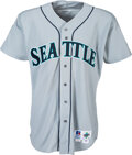 Baseball Collectibles:Uniforms, 1994 Ken Griffey, Jr. Game Worn & Signed Seattle Mariners Jersey, MEARS A10 - With Griffey Signed COA!...