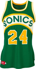 Basketball Collectibles:Uniforms, Circa 1980 Dennis Johnson Game Worn Seattle Supersonics Jersey, MEARS A10....