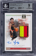 Basketball Cards:Singles (1980-Now), 2018-19 Panini Impeccable Trae Young (Jersey Autograph Holo Silver) #115 BGS Mint 9, Auto 10 - #'d 17/25. ...