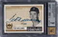 Baseball Cards:Singles (1970-Now), 1999 UD Century Legends Ted Williams (Century Epic Signatures) #TW BGS Mint 9, Auto 10 - #'d 15/100....