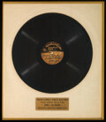 Music Memorabilia:Recordings, Trini Lopez First Record 78 RPM Acetate Matted and Framed....
