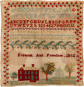 Political:Textile Display (pre-1896), John C. Frémont: A Rare and Important Embroidered Political Sampler. ...