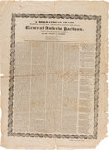 Political:Posters & Broadsides (pre-1896), Andrew Jackson: 1828 Biographical Campaign Broadside....