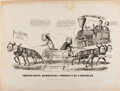 Political:Posters & Broadsides (pre-1896), Abraham Lincoln: Classic Currier & Ives Cartoon. ...