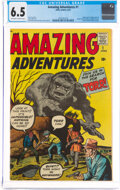 Silver Age (1956-1969):Horror, Amazing Adventures #1 (Marvel, 1961) CGC FN+ 6.5 Off-white to white pages....