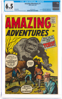 Amazing Adventures #1 (Marvel, 1961) CGC FN+ 6.5 Off-white to white pages