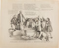 Political:Posters & Broadsides (pre-1896), [John C. Frémont]: Rare and Outstanding Anti-Slavery Cartoon. ...