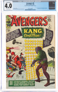 Silver Age (1956-1969):Superhero, The Avengers #8 (Marvel, 1964) CGC Conserved VG 4.0 Off-white pages....