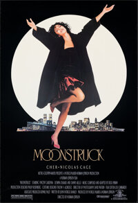 "Moonstruck (MGM, 1987). Rolled, Very Fine. One Sheet (27"" X 39.75"") SS. Comedy"