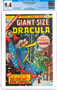 Giant-Size Dracula #5 (Marvel, 1975) CGC NM 9.4 White pages