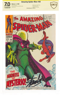 The Amazing Spider-Man #66 Verified Signature: Stan Lee (Marvel, 1968) CBCS FN/VF 7.0 Light tan to off-white pages