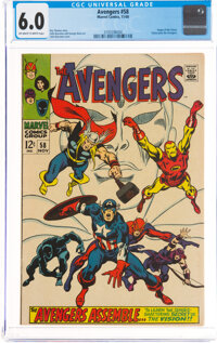 The Avengers #58 (Marvel, 1968) CGC FN 6.0 Off-white to white pages